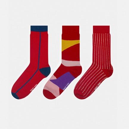 英伦中筒袜红色混搭礼盒 | 将艺术融入生活