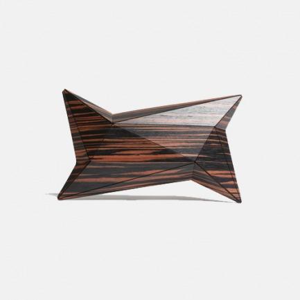 抽象设计的乌木手包 | 独特的设计 精致的木纹