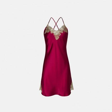 蕾丝吊带短睡裙限量款 | 光泽触感奢华韵味