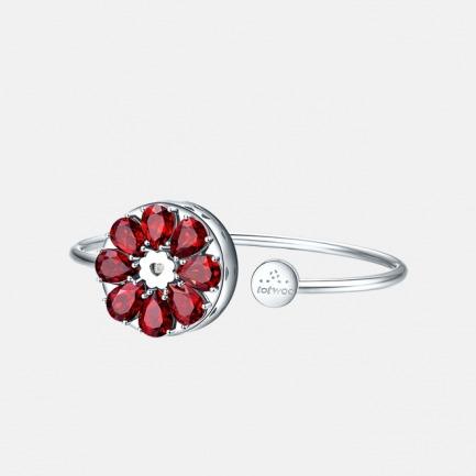 绽放系列 红石榴手镯 | 智能珠宝 用首饰传递心意