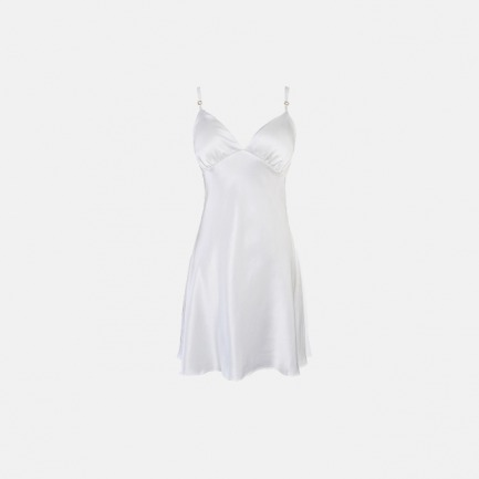 奢华桑蚕丝短吊带 净荼白 | 腰部纤细感 妩媚性感