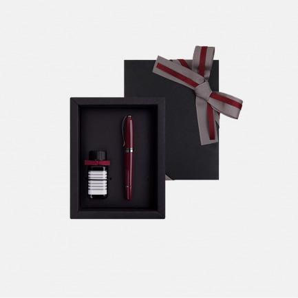 安迪系列 钢笔墨水礼盒装【绛棕】   对使用笔和文字有细腻追求