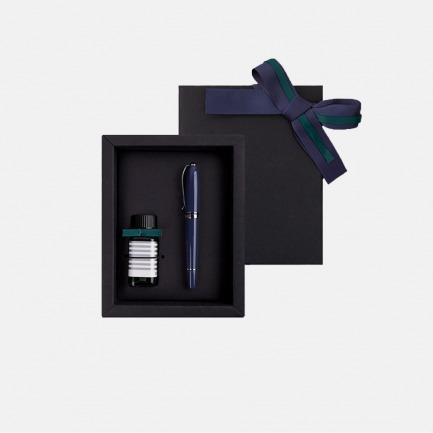 安迪系列 钢笔墨水礼盒装          灰蓝   笔和文字有细腻的追求