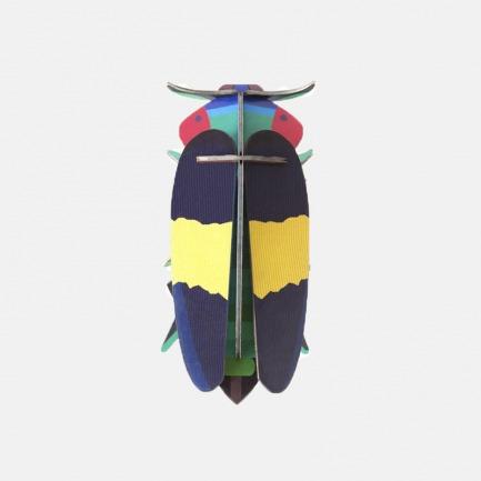 宝石甲虫纸模型 | 简约雅致纸质艺术