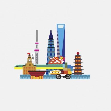 城市系列 上海城市纸模型 | 简约却不失独特