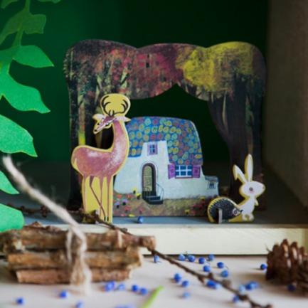 森林之屋纸模型 趣味拼装   源自荷兰的纸品艺术