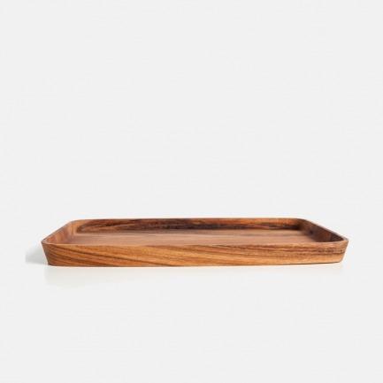 金合欢木椭圆盘 | 原木手工打造