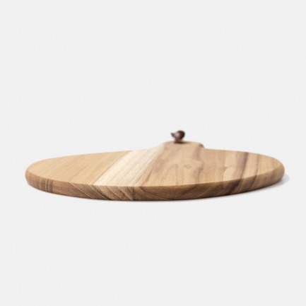 柚木蘑菇形食盘 | 原木打造,简约设计
