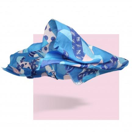 丝棉几何图案大长巾 | 原创设计师品牌