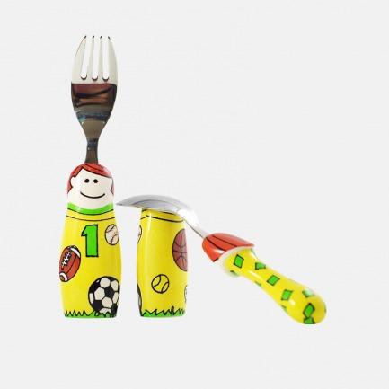 可爱创意儿童餐叉勺子 | 手绘设计风格 创意餐具