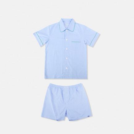 男士短袖短裤睡衣套装 | 经典英式版型