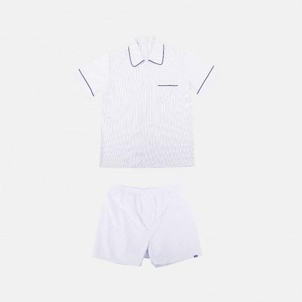 男士短袖短裤睡衣套装 | 经典英式短袖套装版型