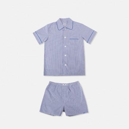 sameul男士短袖短裤睡衣套装 | 经典英式短袖套装版型