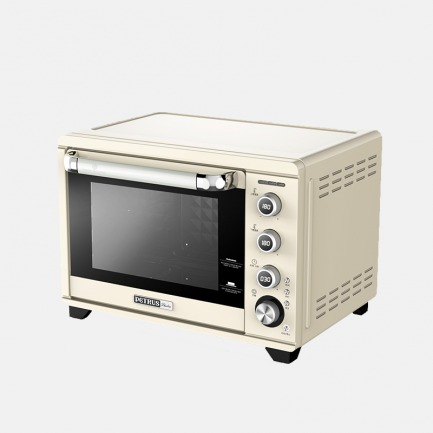 北欧复古风电烤箱 米白色 | 轻松精准控温 烘焙体验升级