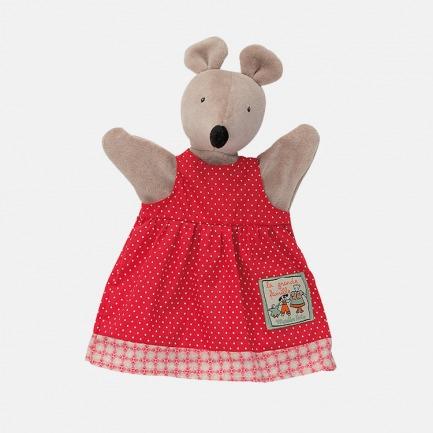 红色公主裙花栗鼠手偶 | 形象可人,做工考究。