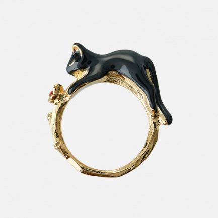 珐琅动物系列戒指 | 日本经典畅销款【黑猫/白兔】