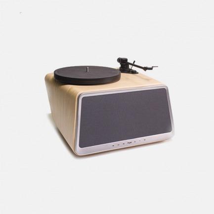 能听黑胶唱片的蓝牙音响 | 清新优雅的白橡木色