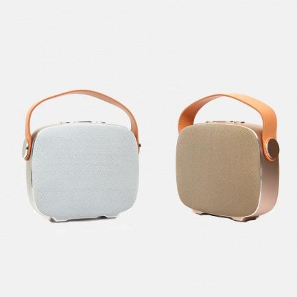 丹麦乐慕希亚蓝牙便携音箱 | 真皮提手舒适且耐用