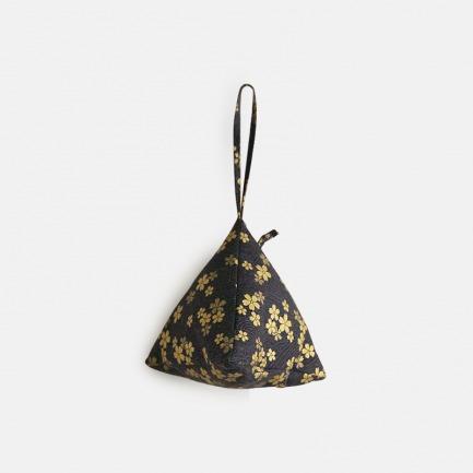 国风系列   全棉描金 手拿三角棕子包