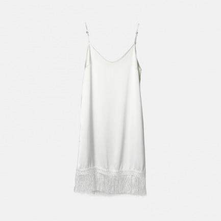白色流苏吊带裙 | 真丝 最好的睡眠伴侣