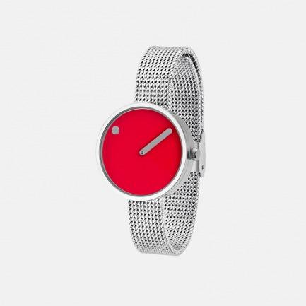 丹麦极简腕表-红色米兰 | 千元以下的搭配神器