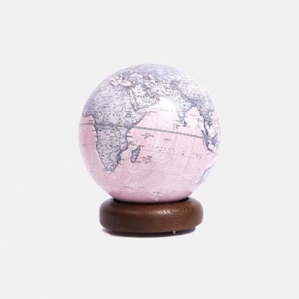 实木标准圆底地球仪【水墨粉】 | 高度契合现代美学