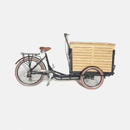 北美橡木箱体三轮自行车 | 家具级别用材木箱
