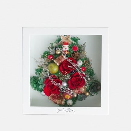 圣诞树永生花摆件 | 进口永生花