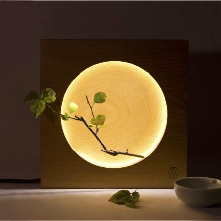 时光系列 匠心满月灯 | 木为框 月做灯