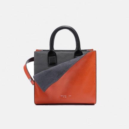 折· 胭脂橘撞色手袋 | 独立原创设计品牌