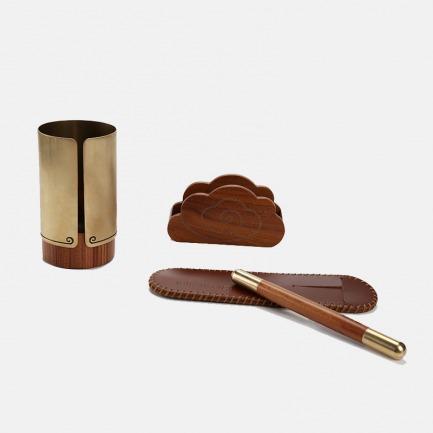 五百年系列文具套装 | 黄铜实木礼盒装【两款可选】