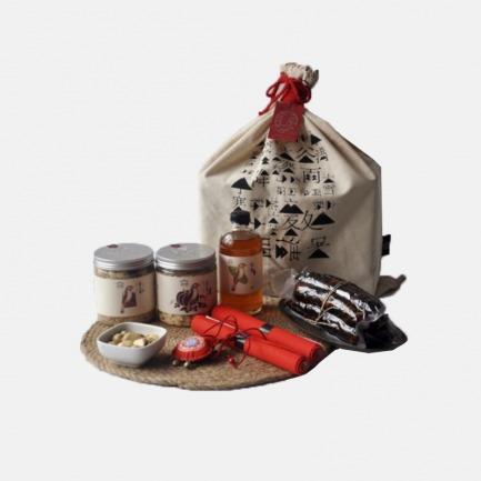 植言年货礼盒-腊肠 青梅米酒 金瓜子 灌心糖 五福包