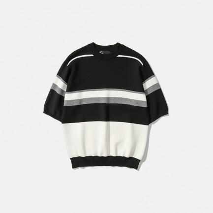 色块编织半袖针织衫T恤 | 新款Maze系列 新卫设计