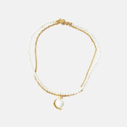 宇宙星系串珠锁骨链  两款 | 天然宝石 18K镀金