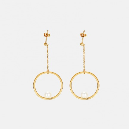 单环贝珠耳环  | 优雅灵动 豌豆系列原创设计