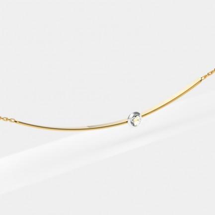 18k金 贝利珠钻石项链 | 宋茜同款 轻奢时尚精致