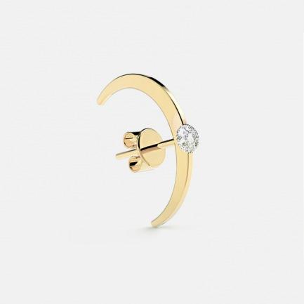 18k金 贝利珠钻石耳饰单只 | 明星同款单品 轻奢时尚