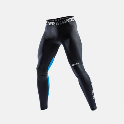 男士运动紧身裤 黑蓝拼色 | 轻薄速干 支撑稳定肌肉
