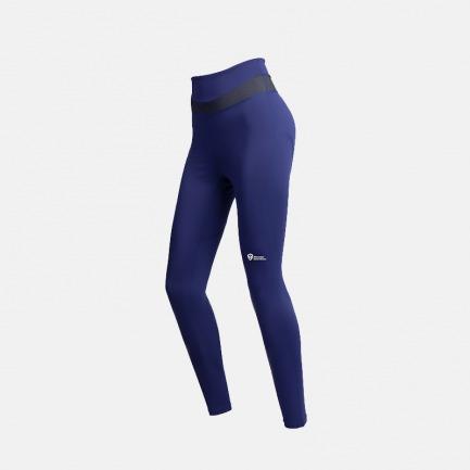 女子高腰运动紧身裤 蓝色 | 弹力收腰显瘦 蜜桃臀立显