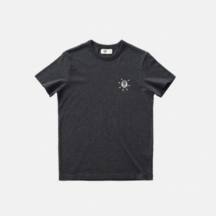 男士花纱圆领T恤-笑脸 | 印花原创设计 舒适透气