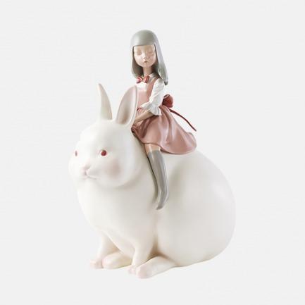 月光兔 手工艺术摆件 | 超治愈的白夜童话系列雕塑