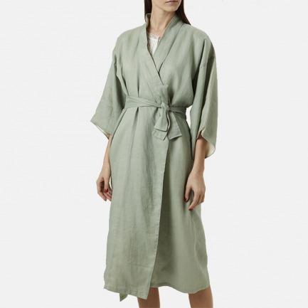 KIMONO高定真丝女睡袍 | 舒适亲肤的真丝+超细苎麻