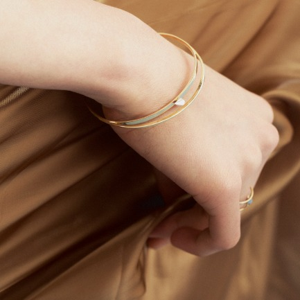 18k黄金土星幽灵环手镯 | 原创设计 彩金转运珠