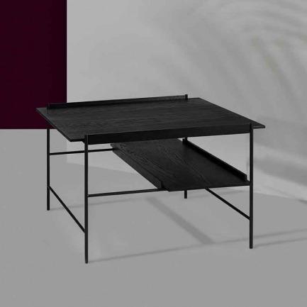 KANSO 多功能咖啡桌 | 金属与木的东方美学风格