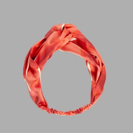 Amor蚕丝发带 | 印花爱心 真丝发带