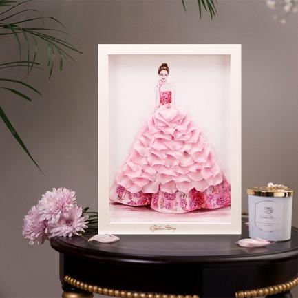 永生花艺术相框 | 厄瓜多尔永生玫瑰造的女人
