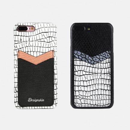 时尚鳄鱼纹iPhone手机壳 | 三种皮革混搭 新颖韩潮