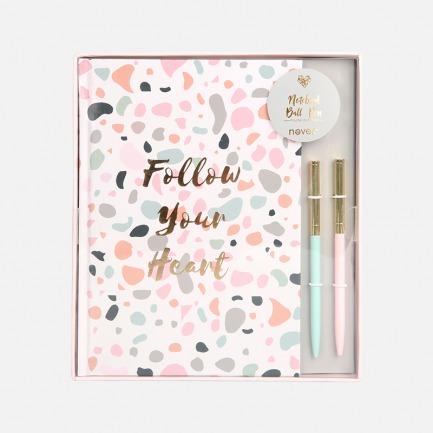 笔记本+圆珠笔套装 | 满满少女心的粉色文具