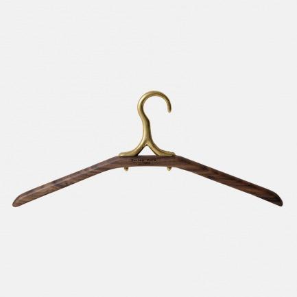 黄铜复古风黑胡桃衣架 | 手工打磨 复古感厚重