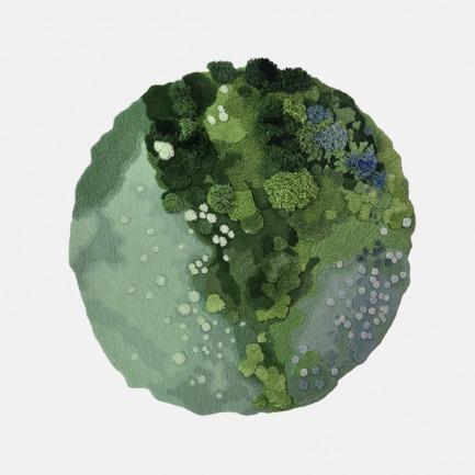 地中海春天3D景观地毯 | 仿佛踩在花园的绿植上